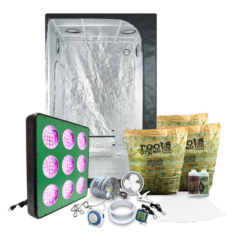HTG Medium 4'x4' Organic LED Grow Tent Kit