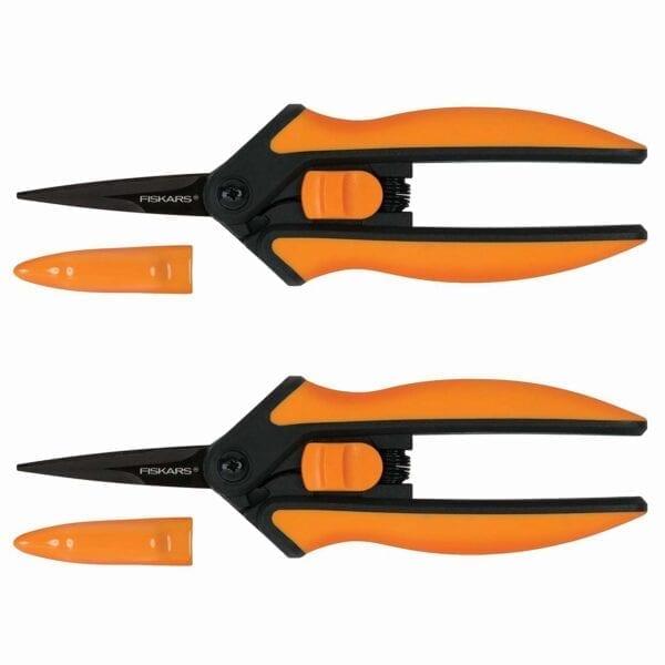 Fiskars Non-Stick Micro-Tip Purning Snips 2-Pack