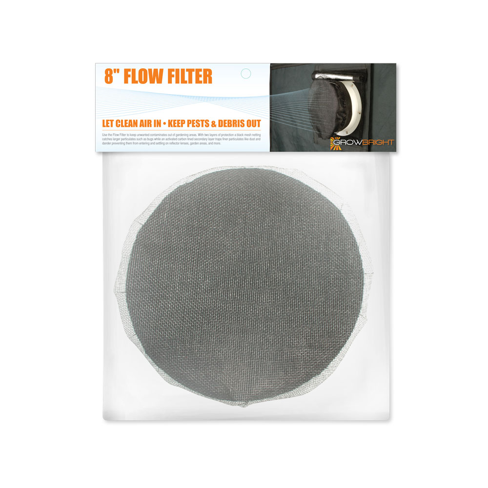 Growbright 8 Inch Duct Filter Htg Supply