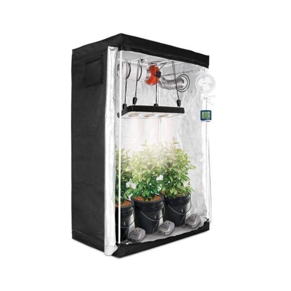 HTG 2'x4' Hydroponic LED Grow Tent Kit