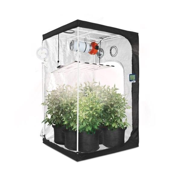 HTG 4x4 Organic LED Grow Tent Kit with Full Spectrum LED