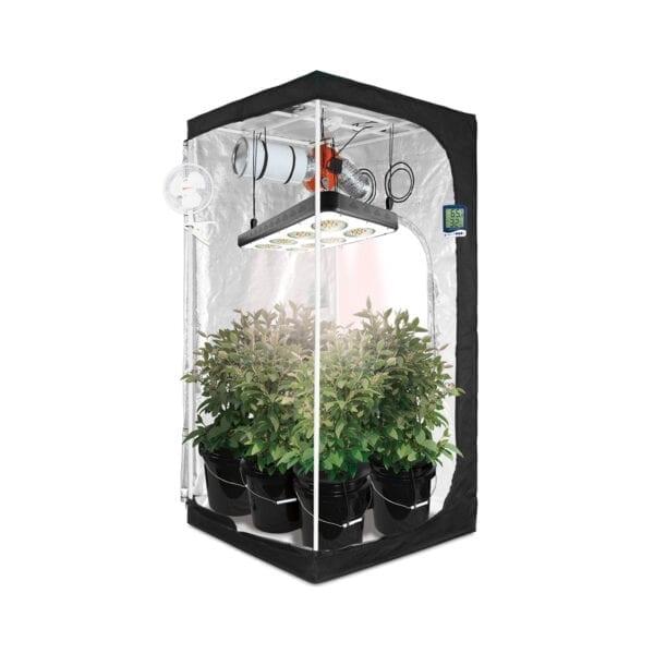 HTG Original 3x3 Hydroponic LED Grow Tent Kit