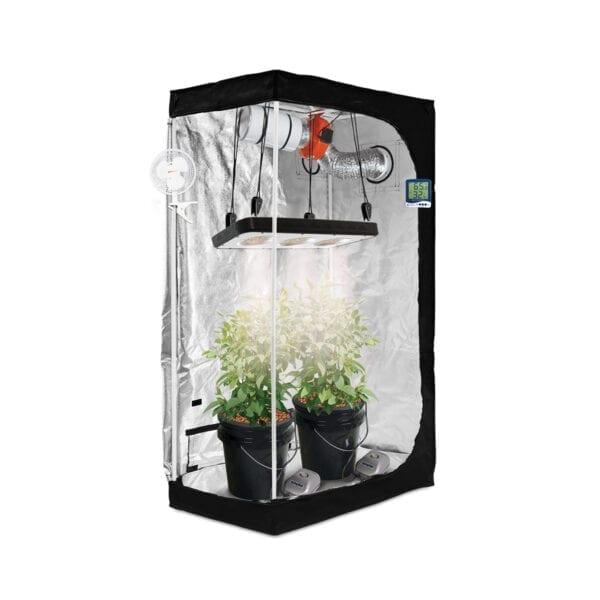 HTG Small 2'x3' Hydroponic LED Grow Tent Kit